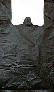 Пакет-майка 25х45(11мкм) Экстра Черная (упак/100шт)