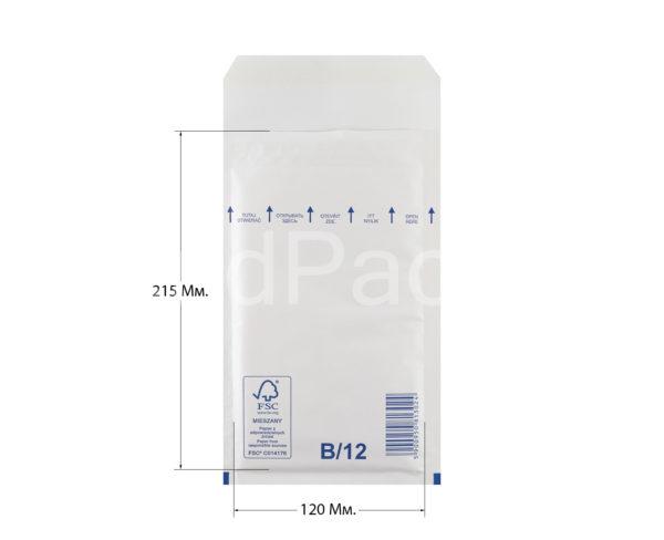 Пакет с воздушной подушкой B/12 140х225мм, AirPro